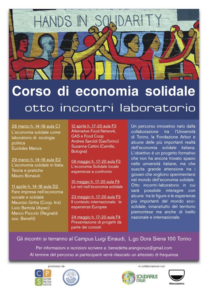 Corso di Economia Solidale Unito - locandina